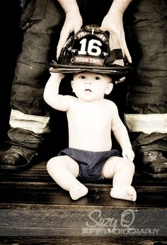 Baby Firefighter Photo Idea