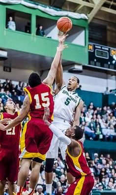Michigan State basketball returns to Jenison Fieldhouse as the #19 Spartans cruise past Tuskegee, 92-56; December 15, 2012