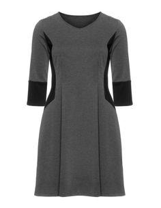 Flared dress by Manon Baptiste. Shop now: http://www.navabi.us/dresses-manon-baptiste-flared-dress-grey-black-22187-1424.html?utm_source=pinterest&utm_medium=social-media&utm_campaign=pin-it