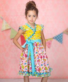 Pink Cream Candy Mischa Surplice Dress