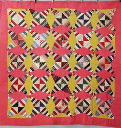 KALEIDOSCOPE Late 1800s Love the yellow running up and pink running sideways