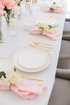 Pink and gold table