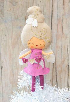 PDF. Christmas angel doll. Plush Doll Pattern Softie por Noialand