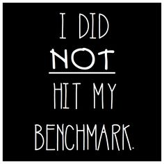I Did Not Hit My Benchmark. - A Teeny Tiny Teacher
