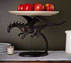 Flying Dragon Platter Stand | Pottery Barn