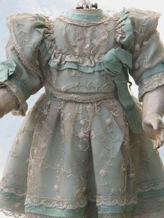 French German Lace Doll Dress for Antique Dolls | eBay