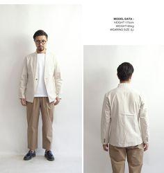 Upscape Audience 綿麻キャンバス ノーカラージャケット テーラードジャケット 日本製 メンズ
