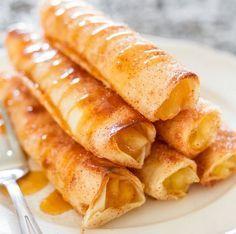 Klinkt misschien een beetje vreemd maar ze zijn heel lekker! Appeltaart tortilla's! Voor de lekkere trek!