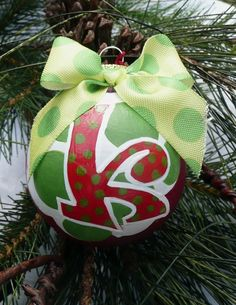 Painted Glass Christmas Ornament