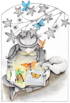 I read in color. Like this beautiful illustration by Alejandra Karageorgiu.