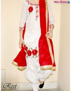 Give yourself a stylish & punjabi look with this Mesmeric White Punjabi Suit . Embellished with embroidery work & lace work. Available with matching bottom & dupatta. It will make you noticable in special gathering. For more details Whatsapp us on +919915178418