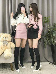 Korean Fashion Pink Twin Look @oliwiasierotnik