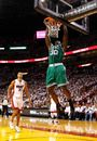 MIAMI, FL - JUNE 05:  Brandon Bass #30 of the Boston Celtics dunks in the first half against the Miami Heat in Game Five of the Eastern Conference Finals in the 2012 NBA Playoffs on June 5, 2012 at American Airlines Arena in Miami, Florida. NOTE TO USER: User expressly acknowledges and agrees that, by downloading and or using this photograph, User is consenting to the terms and conditions of the Getty Images License Agreement.  (Photo by Mike Ehrmann/Getty Images)