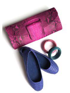Python collection. #shoes #clutch #bracelets #leather #pythoncollection #leathergoods #clossmadrid