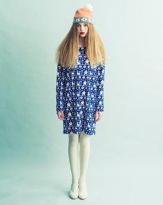 Image of Alpaca and Yeti Print Wool Jersey Dress
