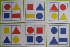 Organisation spatiale avec des blocs logiques Shapes For Toddlers, Maths Area, Toddler School, Busy Book, Business For Kids, Crafts To Do, Games For Kids, Montessori, Activities For Kids
