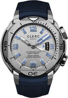 Clerc Watch Hydroscaph H1 Auto #add-content #bezel-unidirectional #bracelet-strap-rubber #brand-clerc #case-depth-15-4mm #case-material-steel #case-width-48mm #cosc-yes #date-yes #delivery-timescale-1-2-weeks #dial-colour-grey #gender-mens #luxury #movement-automatic #official-stockist-for-clerc-watches #packaging-clerc-watch-packaging #style-divers #subcat-hydroscaph-h1-chronometer #supplier-model-no-h1-1-11r-18-light-grey #warranty-clerc-official-2-year-guarantee #water-resistant-500m