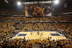 Bankers Life Fieldhouse: Home of the NBA's Best Scoreboard and the best team in the NBA--The Pacers. BLF offers a thriving sports atmosphere and every seat in the house is a good one. A must visit during basketball season.