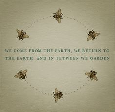 The motion of the bees in this design encourage the eye to flow around the page.