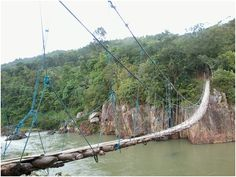 Inangtan Hanging Bridge, Sagay City, Negros Occidental, Philippines Bacolod City, Rope Bridge, Pool Ideas, Bridges, Philippines, Island, Outdoor Decor, Image, Black People