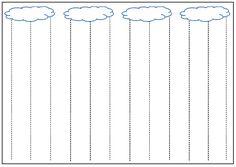 Tracer des lignes verticales : la pluie