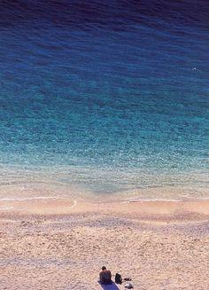 am Strand, türkses Meer, Türkei