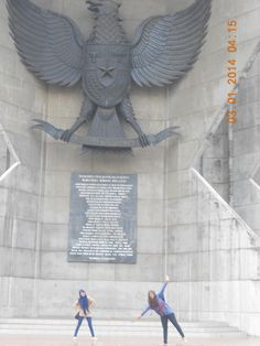 i forgot what people call this monument, about #Pancasila for sure.