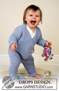 Jumpsuit, soft toys and blanket in Alpaca ~ DROPS Design