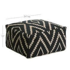 Kite Kilim Floor Pouf | west elm