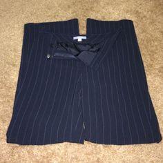 Ann Taylor black pants size 2. Black with white pinstripe. Ann Taylor Pants Boot Cut & Flare