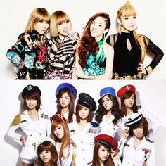 Many top K-Pop girl group's names appeared on the U.S. Billboard site. #2ne1