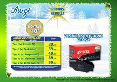 Oferta especial Pastillas de freno REMSA para turismos - Navidad 2013 (del 24 de noviembre al 24 de Diciembre). Más info en www.aurgi.com