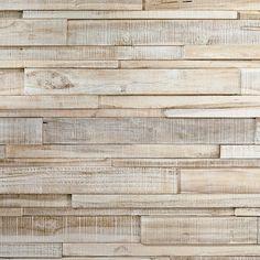 Teak Wood panel 3D Ultrawood Teak Linari XL White Washed - style4walls l modern and trendy wall coverings Interior Walls, Living Room Interior, Natural Materials, Natural Wood, Organic Shapes, Home Reno, Teak Wood, Modern Interior Design, Wood Paneling