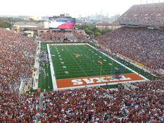 Darrell K Royal–Texas Memorial Stadium located in Austin, Texas, has been home to the Austin Longhorns football team since 1924.  http://skicks.com/blogs/recent-articles