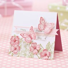 Stamp butterflies & blooms for mum | TheMakingSpot