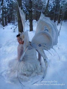 Custom fairy wings by Renae Taylor on Etsy for $375, unbelievable price for the attention to detail.