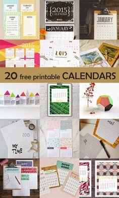 Ohoh Blog 20 Free printable calendars for 2015 #freebie