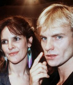 Sting with ex-wife Frances Tomelty