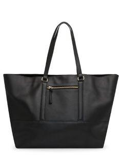 aa7c14c430 Mango Women s Zip Leather Shopper Bag Shopper Bag