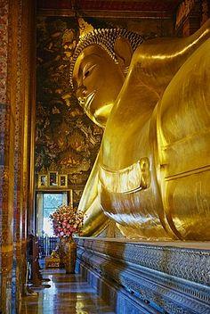 Reclining Buddha, Wat Pho (Wat Phra Chetuphon), Bangkok, Thailand, Southeast Asia, Asia Thailand Destinations, Thailand Travel, Bangkok Thailand, Buddha Buddhism, Buddhist Art, Zen, Reclining Buddha, Wat Pho, Beautiful Places In The World