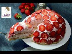 Erdbeer Kuppeltorte Schmeckt super lecker und erfrischendI leicht vorbereitet I kümbet pasta tarifi - YouTube