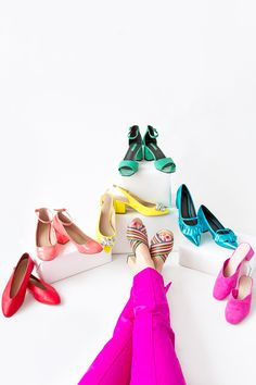I'm Just Here For The Color: Shoe Collection!