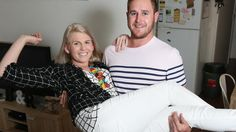Home sweet home... Britt Butler and fiance Ryan Munt lived at home with their…