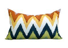Adras ikat pillow cover in Caravan - 14 x 23 - $75