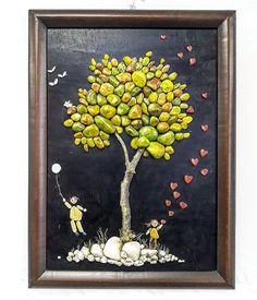 65 отметок «Нравится», 7 комментариев — Somaya Reyad Alaqra (@artist_somaya_alaqra) в Instagram: «Keep Hope Alive ! ⏳ Acrylic painting on stones & rocks (installed on wood) ! (80*60) - Somaya…»