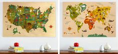 Jumbo wooden city prints and maps by Petit Collage