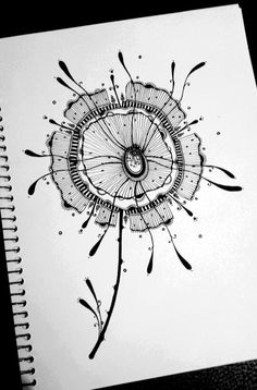 pen and ink drawing by mary dusek Zentangle Drawings, Doodles Zentangles, Doodle Drawings, Art Drawings Sketches, Doodle Art Designs, Doodle Patterns, Zentangle Patterns, Painting & Drawing, Tangle Art