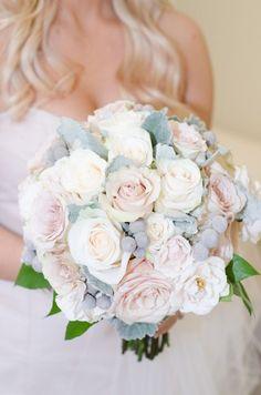 Featured Photographer: Eric and Jenn photography; Romantic blush rose wedding bouquet