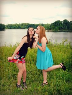 Best friend poses for photography