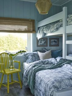 Beach House Bedroom, Home Bedroom, Master Bedroom, Red Cottage, Perfect Place, Cosy, Hygge, Cabin, Curtains